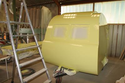 En peinture caravane ancienne de collection henon notin - Peindre une caravane ...